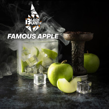 Табак для кальяна BlackBurn Famous Apple (зеленое яблоко-лед), 20 г